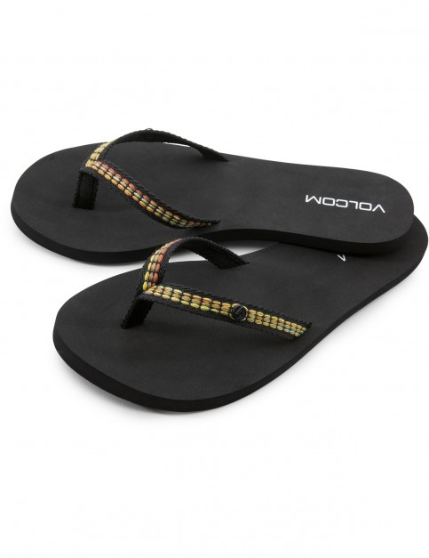 Volcom Trek Flip Flops in Black