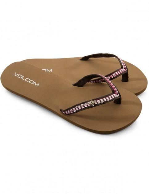 Volcom Trek Flip Flops in Brown