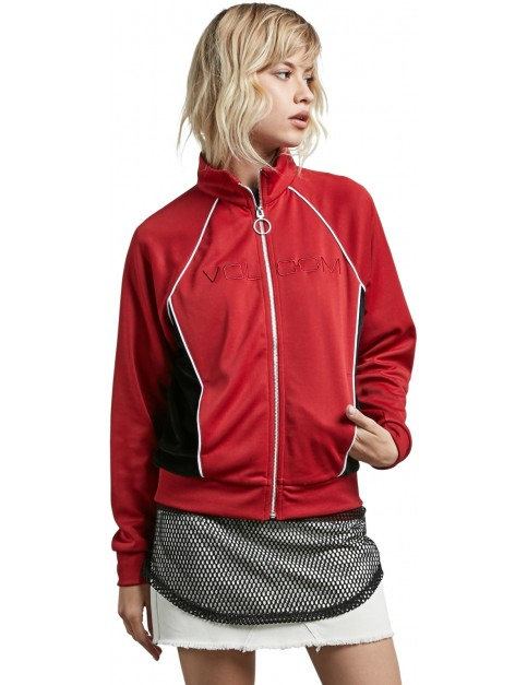 Volcom True To Track Jacket in Chili Red