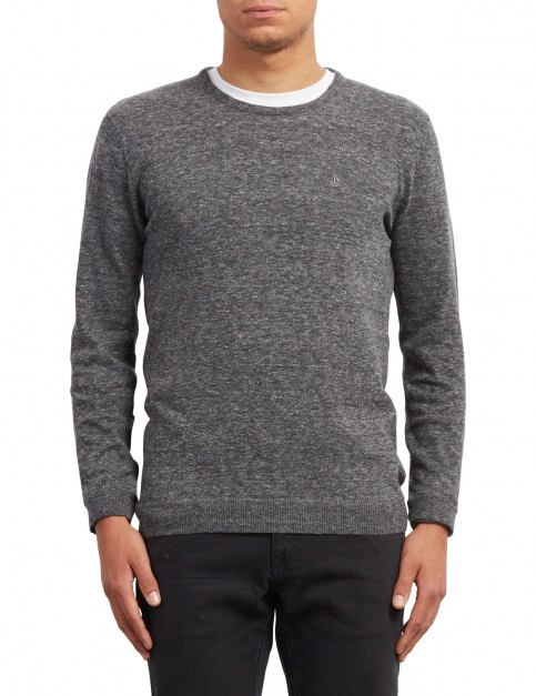 Volcom Uperstand Crew Jumper in Heather Grey