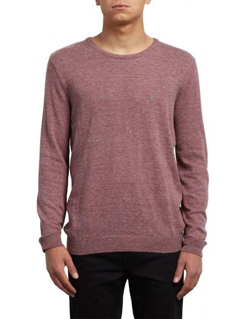 Volcom Uperstand Crew Sweatshirt in Crimson