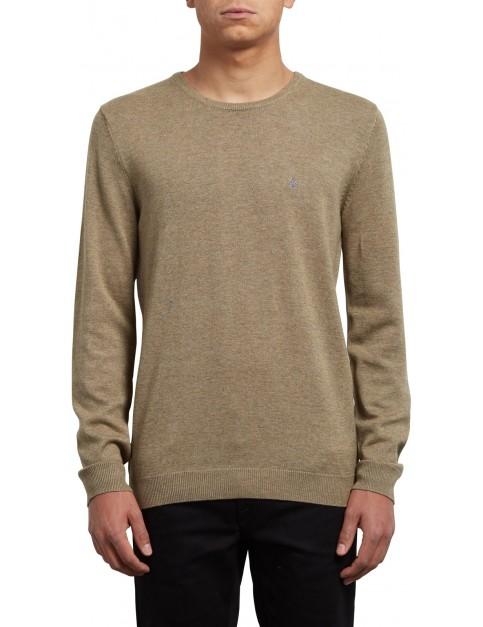 Volcom Uperstand Crew Sweatshirt in Sand Brown