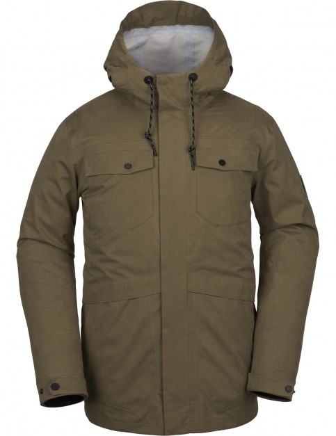 Volcom V.CO 3L RAIN JKT Snow Jacket in MOSS