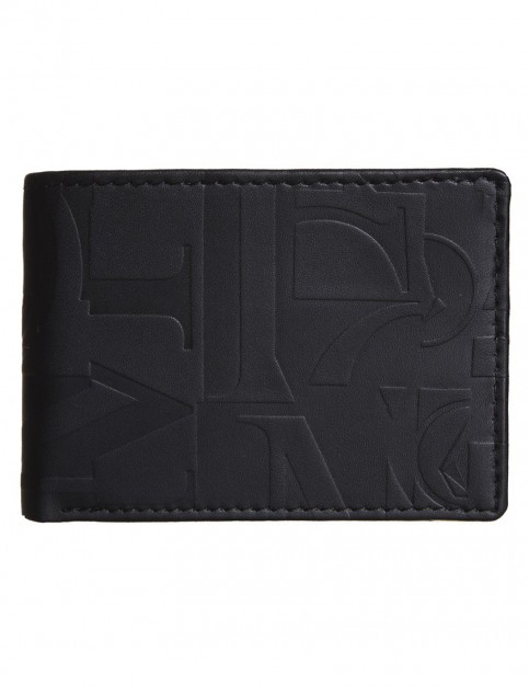 Black Volcom Volcom Art Faux Leather Wallet