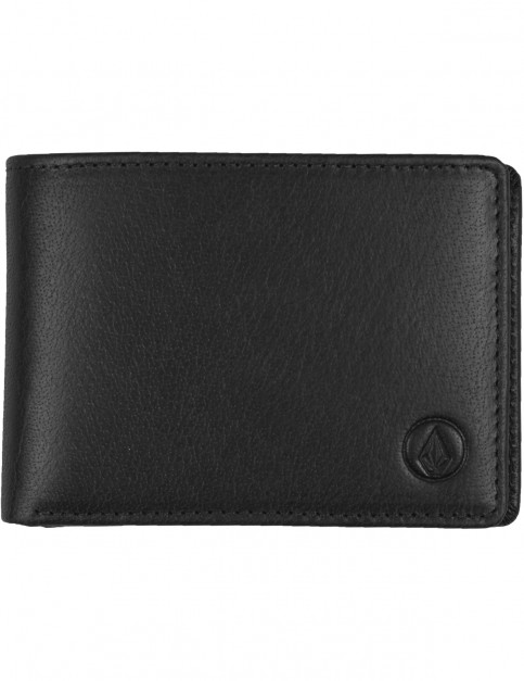 Volcom Volcom Leather Wlt Leather Wallet in Black