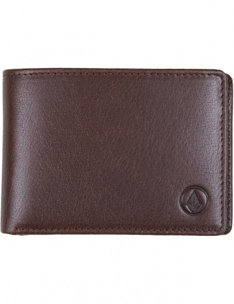 Volcom Volcom Leather Wlt Leather Wallet in Brown