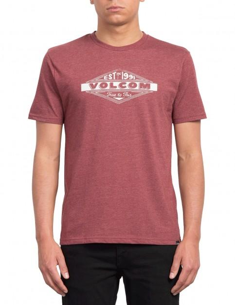Volcom Volcom Run Short Sleeve T-Shirt in Crimson