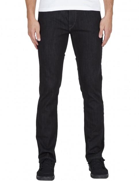 Volcom Vorta Slim Fit Jeans in Black Rinse