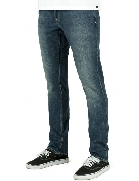 Volcom Vorta Slim Fit Jeans in Sandy Indigo