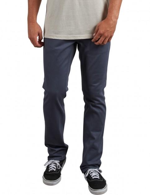 Volcom Vorta 5 Pocket Slub Cargo Trousers in Midnight Blue