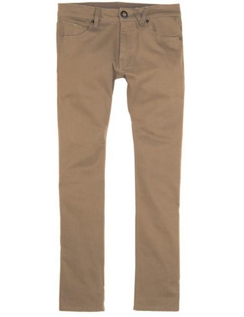 Volcom Vorta 5 Pocket Slub Cargo Trousers in Mushroom