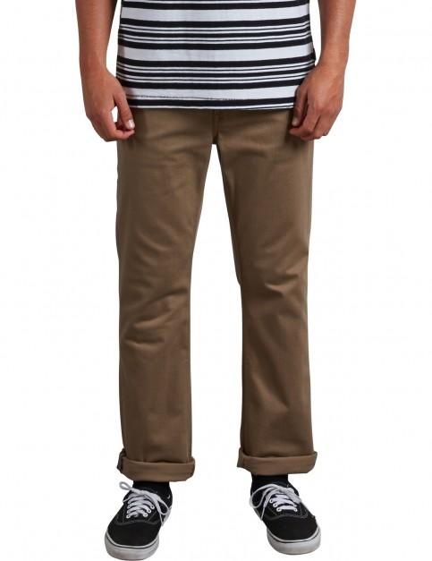 Volcom Vorta 5Cket Slub Cargo Trousers in Grain