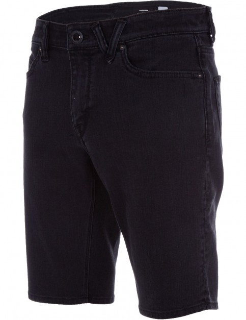 Volcom Vorta Denim Shorts in Ink Black