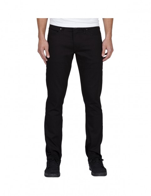 Volcom Vorta Denim Slim Fit Jeans in Black On Black