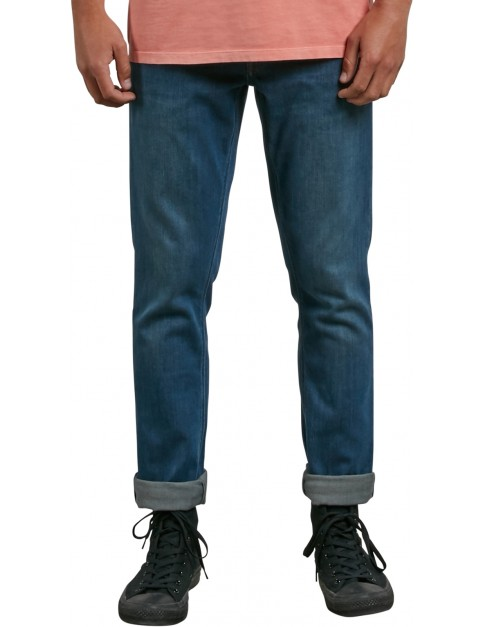 Volcom Vorta Denim Slim Fit Jeans in Dust Bowl Indigo
