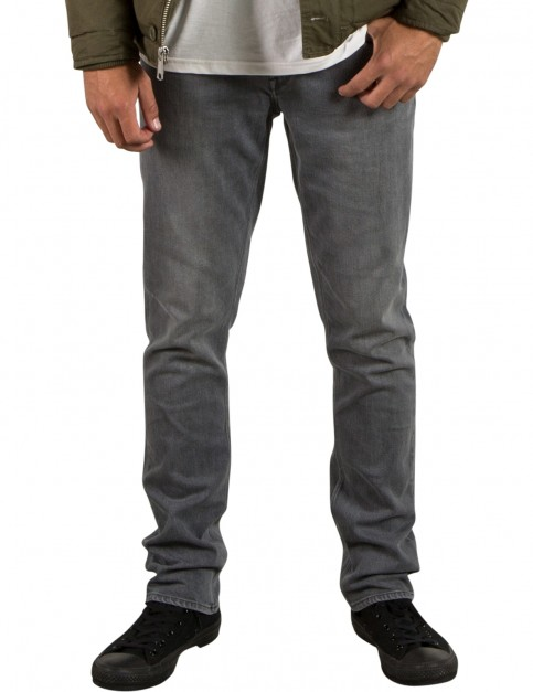 Volcom Vorta Denim Slim Fit Jeans in Power Grey