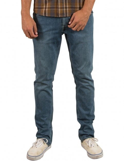 Volcom Vorta Denim Slim Fit Jeans in Seventies Indigo