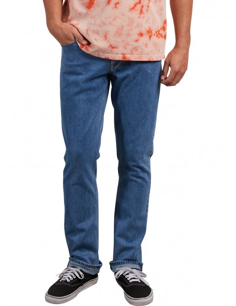 Volcom Vorta Denim Slim Fit Jeans in Stone Blue