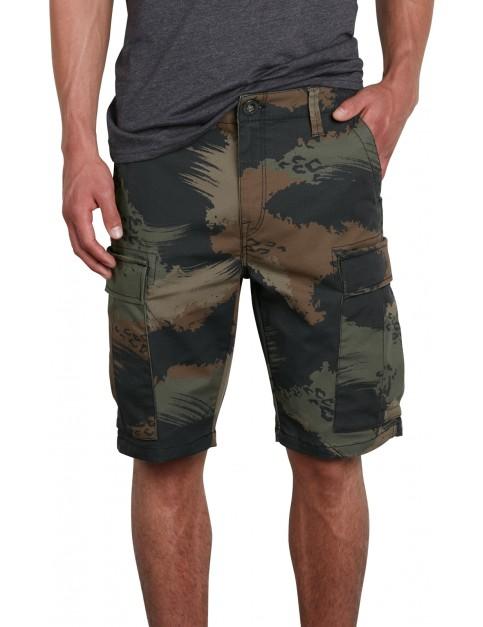 Volcom VSM Stranger Cargo Shorts in Camouflage