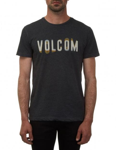 Volcom Warble Short Sleeve T-Shirt in Heather Black