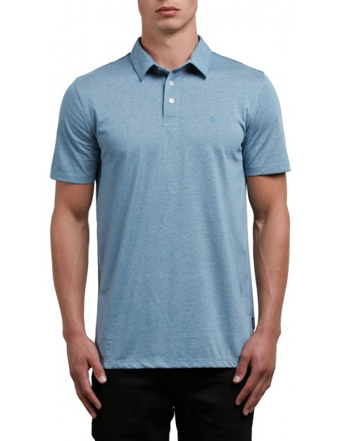 Volcom Wowzer Polo Shirt in Wrecked Indigo