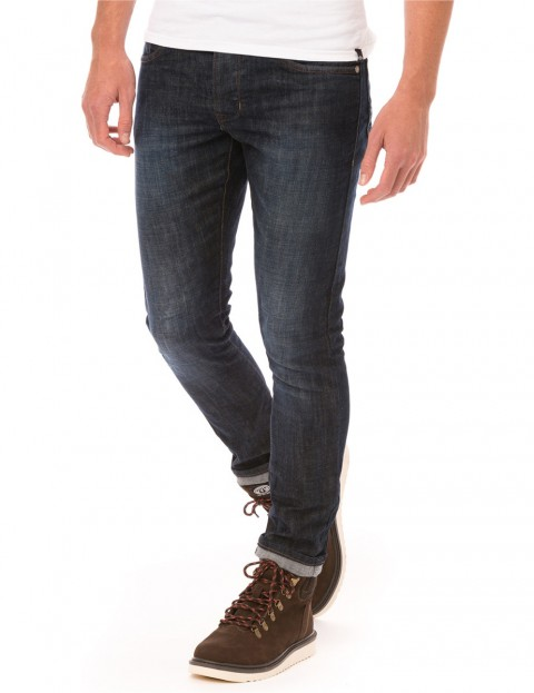 Animal Pelus Slim Fit Jeans in Mid Denim Wash