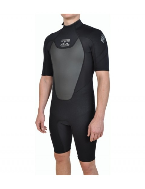 8e5f0a695a Billabong Foil 2 2 Shorty Wetsuit in Black and Charcoal ...