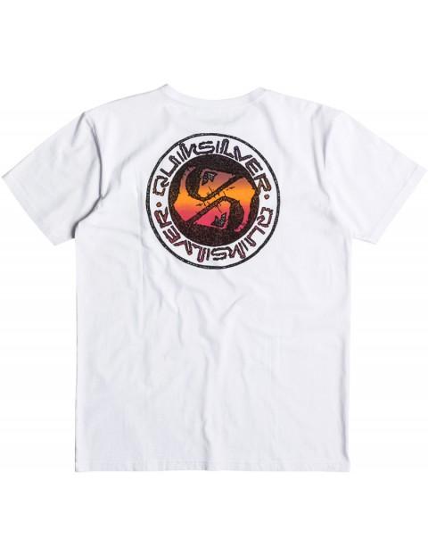 Quiksilver Balanced 69 Short Sleeve T-Shirt in White