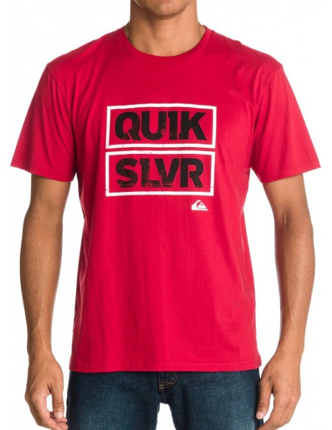 Quiksilver Boxer Baseline Short Sleeve T-Shirt in Chili