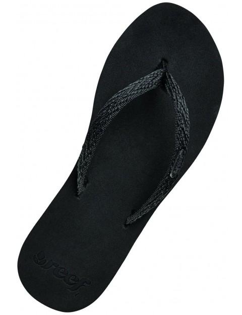 12853124f269 Reef Ginger Drift Flip Flops in Black Black