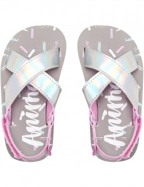 9a3ada70d5a87a Animal Swish Glitz Flip Flops in Petal Pink