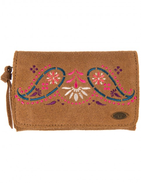 Animal Kristie Leather Wallet in Toffee Brown