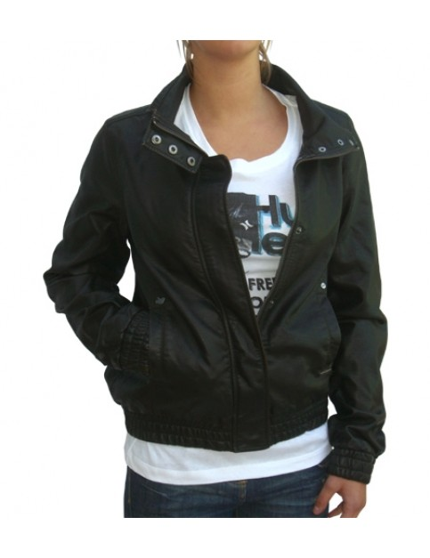 Animal Babich Leather Look Fashion Jacket in Java