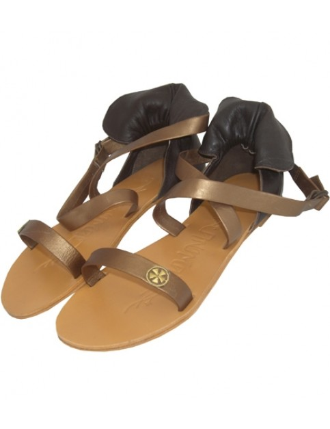 Animal Roma Leather Sandals in Satin Bronze