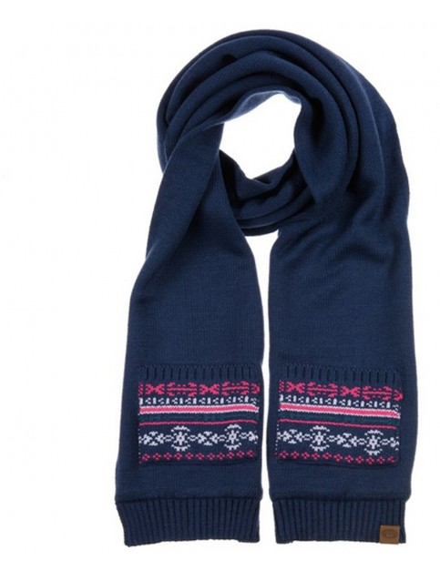 Animal Sansimone Knitted Scarf in Ink Blue