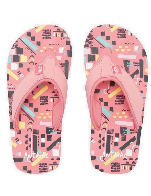 06c130610e92 Animal Swish AOP Girls Flip Flops in Multicolour