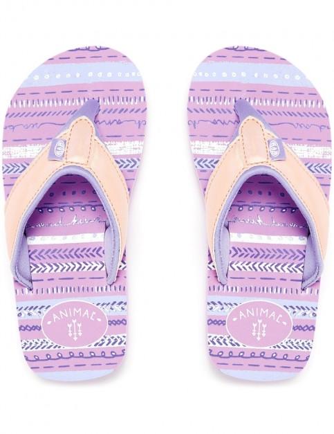 Animal Swish Glitz Flip Flops in Petal Pink