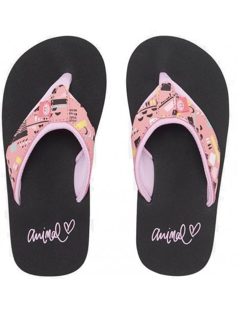 3aeee5463 Animal Swish Upper AOP Girls Flip Flops in Paradise Pink