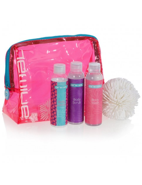Animal Wind Down Bath and Shower Collection Wash Bag in Pink