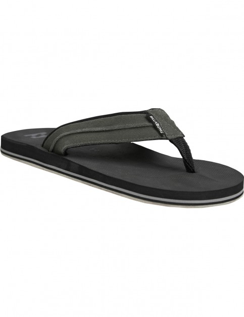 Billabong All Day Impact Lux Flip Flops in Black/Charcoal