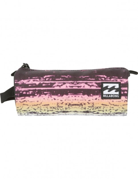 Billabong Barrel Pencil Case in Black Multi