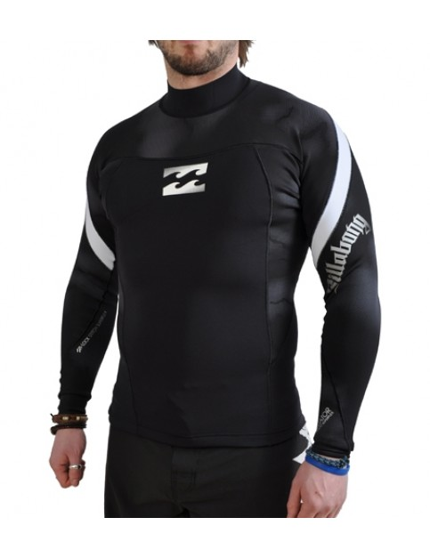 Billabong Equator Punch Wetsuit Jacket in Black and White