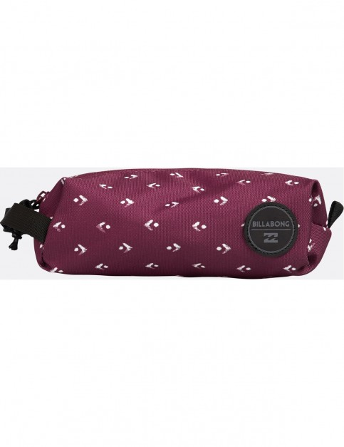 Billabong Free Mind Pencil Case in Mystic Maroon