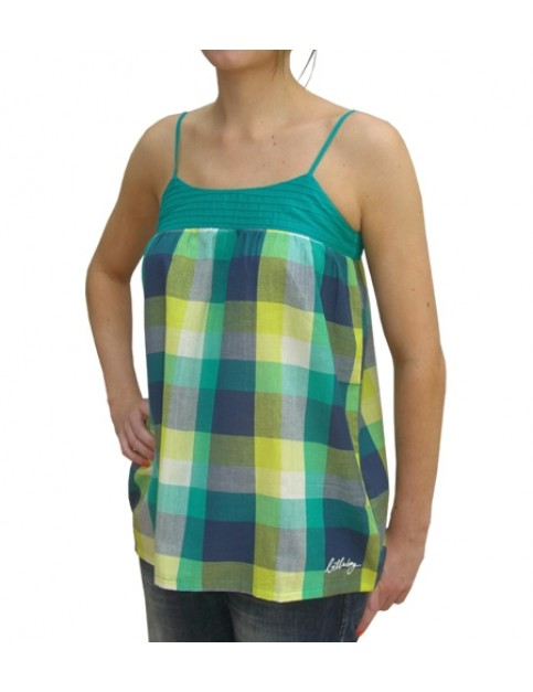 Billabong Navidad Sleeveless T-Shirt in Green Emerald