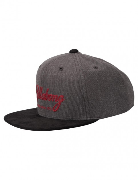 Billabong Sama Snapback Cap in Black Heather