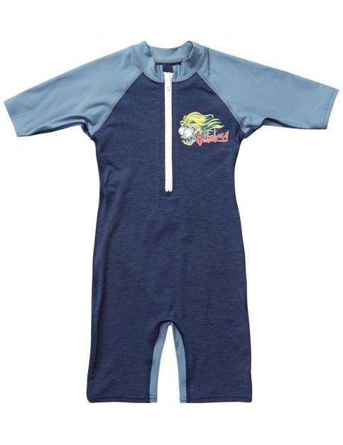 Billabong Shreddy Toddler Sunsuit in Navy Heather
