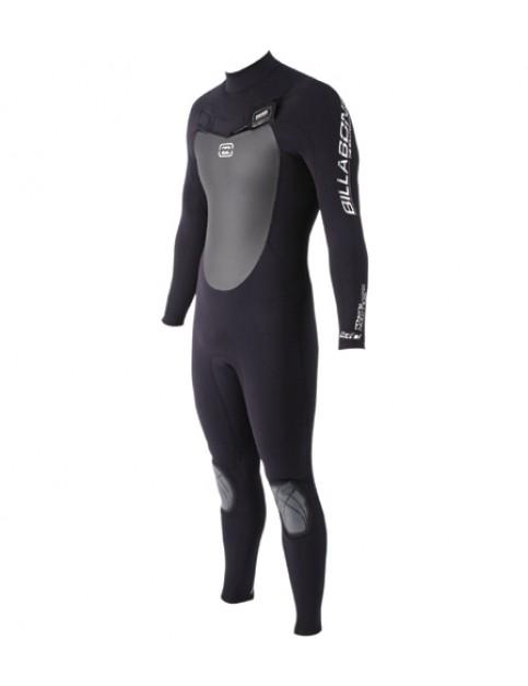 Billabong Solution Platinum Zipperless 3/2 Full Wetsuit in Black