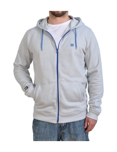 Billabong System Zipped Hoody in White Marble
