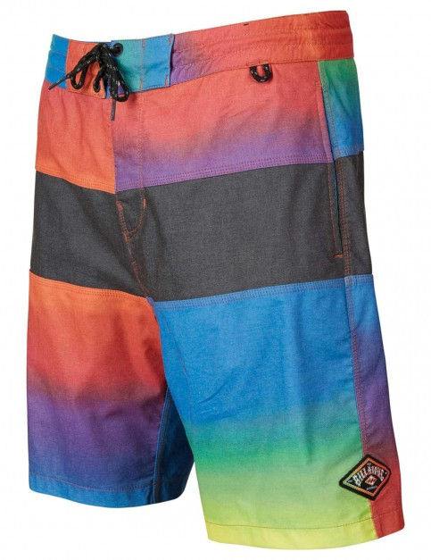 Billabong Tribong Lo Tides Faded 18 Mid Length Board Shorts in Neon