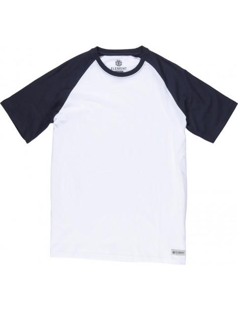 Element Basic Raglan Short Sleeve T-Shirt in Optic White